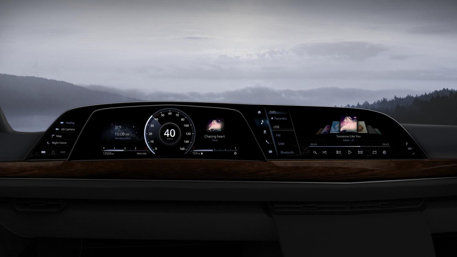 Новый Cadillac Escalade получил бортовую систему LG